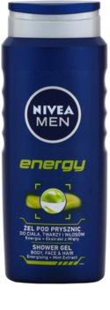 Nivea Men Energy Shower Gel for Face, Body and Hair