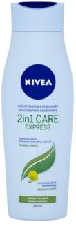 Nivea 2in1 Care Express Protect & Moisture šampón a kondicionér 2 v1 pre všetky typy vlasov