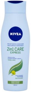 Nivea 2in1 Care Express Protect & Moisture Shampoo und Conditioner 2 in 1 für alle Haartypen