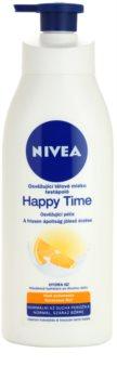 Nivea Happy Time leche corporal refrescante para pieles normales y secas