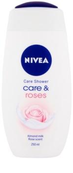 Nivea Care & Roses gel calmant pentru dus