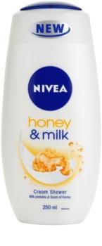 Nivea Honey & Milk krémes tusoló gél