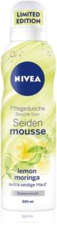 Nivea Silk Mousse Lemon Moringa pečující sprchová pěna