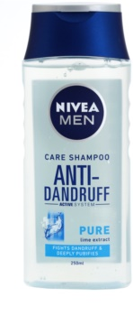 Nivea Men Pure champô anticaspa para cabelo normal a oleoso