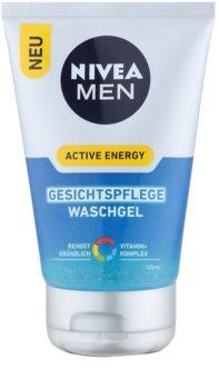 Nivea Men Active Energy erfrischendes Reinigungsgel für das Gesicht