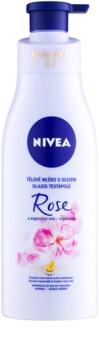 Nivea Rose & Argan Oil losjon za telo z oljem
