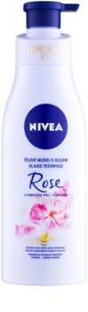 Nivea Rose & Argan Oil tělové mléko s olejem