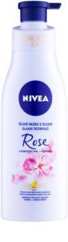 Nivea Rose & Argan Oil молочко для тіла з олією