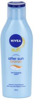 Nivea Sun After Sun & Bronze молочко після засмаги продовження засмаги