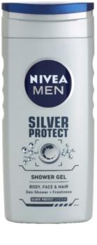 Nivea Men Silver Protect gel de douche visage, corps et cheveux