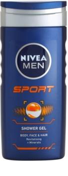 Nivea Men Sport gel de ducha para rostro, cuerpo y cabello