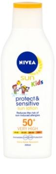 Nivea Sun Kids loção solar para crianças SPF 50+