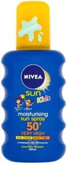 Nivea Sun Kids spray colorat pentru copii  pentru bronzat SPF 50+