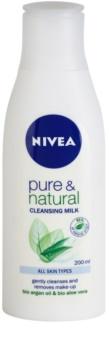 Nivea Visage Pure & Natural čistiace pleťové mlieko