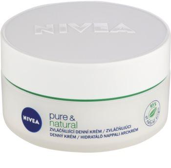 Nivea Visage Pure & Natural Tagescreme für weiche Haut für normale Haut und Mischhaut
