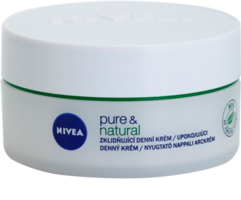 Nivea Visage Pure & Natural upokojujúci denný krém pre suchú pleť