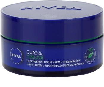Nivea Visage Pure & Natural regeneračný nočný krém pre všetky typy pleti
