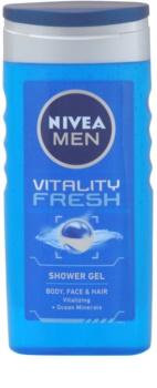 Nivea Men Vitality Fresh gel de duche para cabelo e corpo