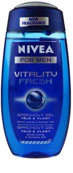 Nivea Men Vitality Fresh żel pod prysznic do włosów i ciała