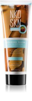 NKD SKN Gradual Glow crème autobronzante transparente pour un bronzage progressif