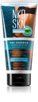 NKD SKN Pre-Shower Rinse-Off Self-Tanning Cream for Gradual Tan Effect