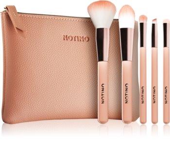 Notino Glamour Collection Travel Brush Set with Pouch set de călătorie cu pensule