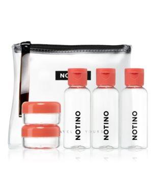 Notino Travel conjunto de viagem com 5 frascos recarregáveis CORAL