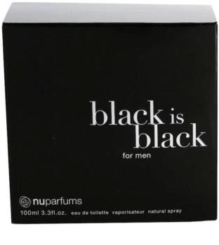 Nuparfums Black Is Black eau de toilette férfiaknak 100 ml