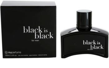 Nuparfums Black Is Black Eau de Toilette para homens 100 ml