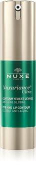 Nuxe Nuxuriance Ultra fiatalító krém a szem és az ajak körvonalára a ráncok, duzzanatok és sötét karikák ellen