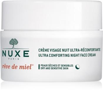 Nuxe Rêve de Miel Feuchtigkeitsspendende Nachtcreme mit ernährender Wirkung für trockene Haut