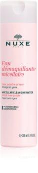 Nuxe Cleansers and Make-up Removers água micelar de limpeza para pele e olhos sensíveis