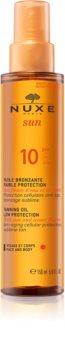 Nuxe Sun opalovací olej na obličej a tělo SPF 10