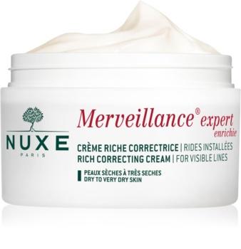 Nuxe Merveillance crema antiarrugas para pieles secas y muy secas