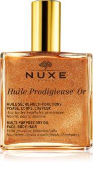 Nuxe Huile Prodigieuse OR óleo seco multifunções com brilhantes para rosto, corpo e cabelo