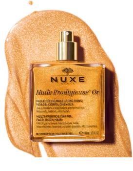Nuxe Huile Prodigieuse OR aceite seco multiusos con purpurina para cara, cuerpo y cabello
