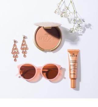Nuxe Éclat Prodigieux polvos compactos con efecto bronceado para rostro y cuerpo