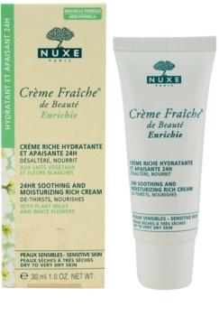 Nuxe Crème Fraîche de Beauté upokojujúci a hydratačný krém pre suchú až veľmi suchú pleť