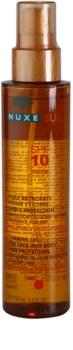 Nuxe Sun універсальна олійка для засмаги для тіла та волосся SPF 10