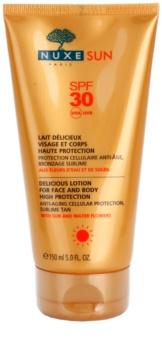 Nuxe Sun opalovací mléko na obličej a tělo SPF 30