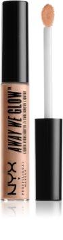 NYX Professional Makeup Away We Glow tekutý rozjasňovač