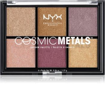 NYX Professional Makeup Cosmic Metals™ paletka očních stínů