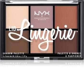 NYX Professional Makeup Lid Lingerie paletka 6 přechodových stínů