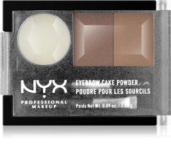 NYX Professional Makeup Eyebrow Cake Powder kit para sobrancelhas