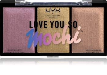 NYX Professional Makeup Love You So Mochi paletka rozjasňovačů