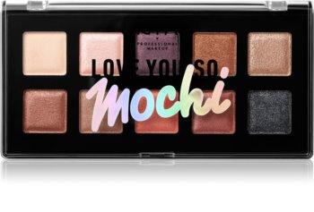 NYX Professional Makeup Love You So Mochi paleta očních stínů