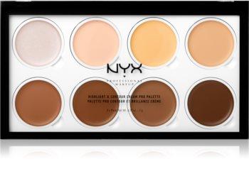 NYX Professional Makeup Highlight & Contour Cream PRO palette contouring