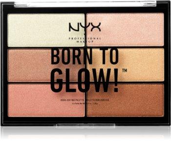 NYX Professional Makeup Born To Glow paleta rozjaśniaczy