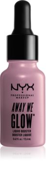 NYX Professional Makeup Away We Glow tekutý rozjasňovač s kapátkem