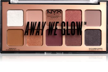 NYX Professional Makeup Away We Glow paleta senčil za oči